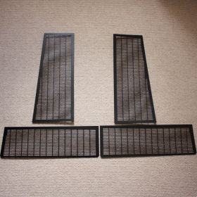 Black Powdercoated Stainless Lower Engine Cover Grilles