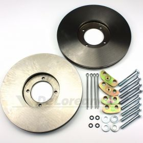 Vented Front Brake Discs PAIR - Power Brakes Kit 2