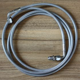 Clear Coated Stainless Braided Clutch Hose / Line