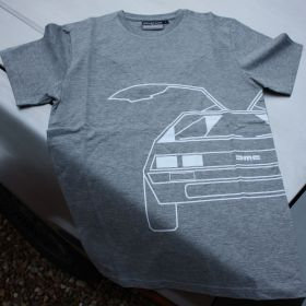 DeLorean T Shirt - Grey