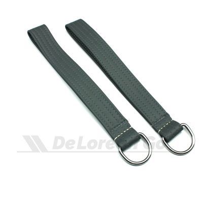 GREY Door Pull Strap with ring (PAIR) early style door straps