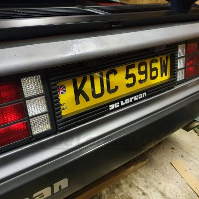 Plastic Euro Ribbed Numberplate Surround with logo recess (LOGO NOT INCLUDED)