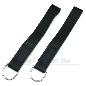 BLACK Door Pull Strap with ring (PAIR) early style door straps
