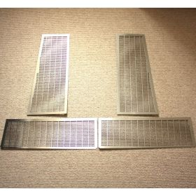 Stainless Steel Lower Engine Cover Grille SINGLE PIECE - Rear RH (plain)
