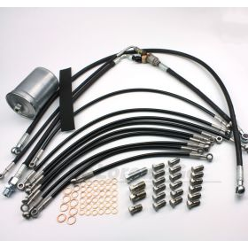 Stainless Braided Fuel Lines Complete Kit (British Made)