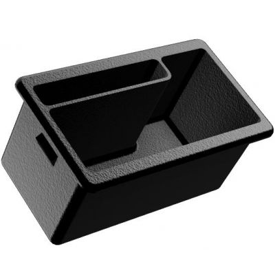 Flock Lined Deep Ash Tray Replacement with Phone Holder