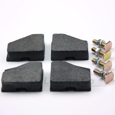 Handbrake Pads with bolts (complete set of 4 for parking brake) - aftermarket