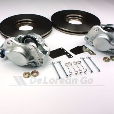 Vented Front Brake Discs PAIR with Calipers - Power Brakes Kit 1